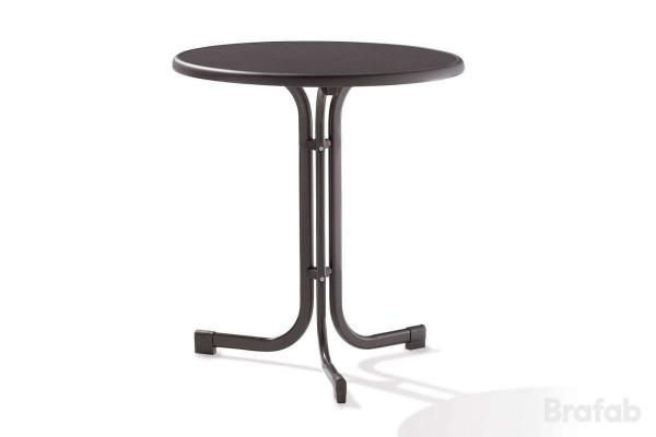 Mecalit cafebord Ø70 h72 antracit/svart Brafab
