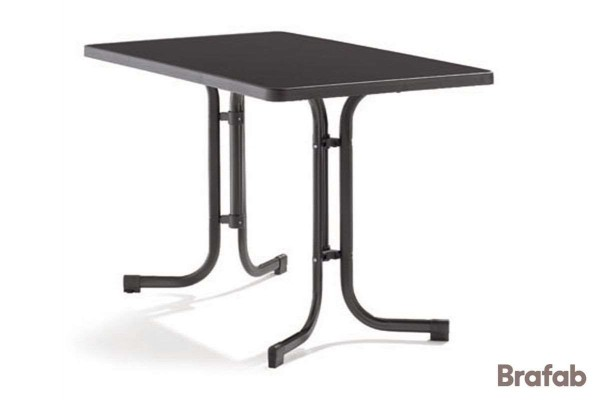 Mecalit cafebord 115x70 h72 antracit/svart Brafab
