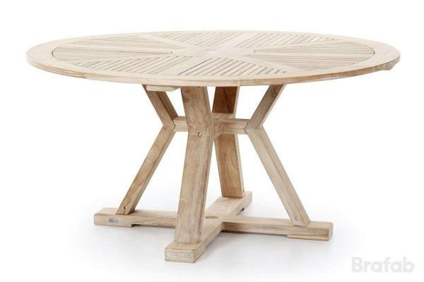 Circus matbord Ø150 h75 teak vitblästrad Brafab