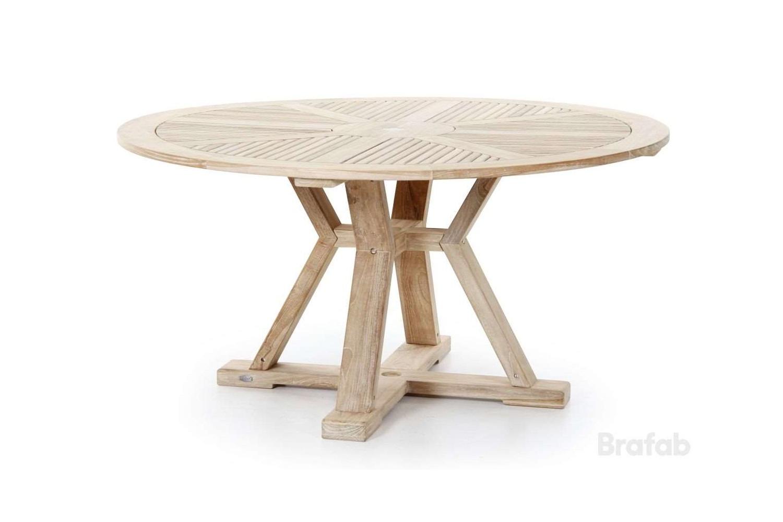 Circus matbord Ø150 h75 teak vitblästrad