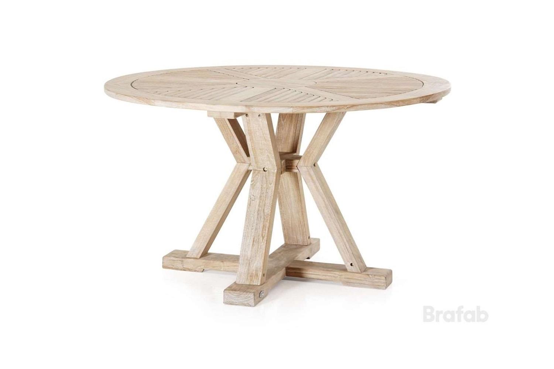 Circus matbord Ø130 h75 teak vitblästrad
