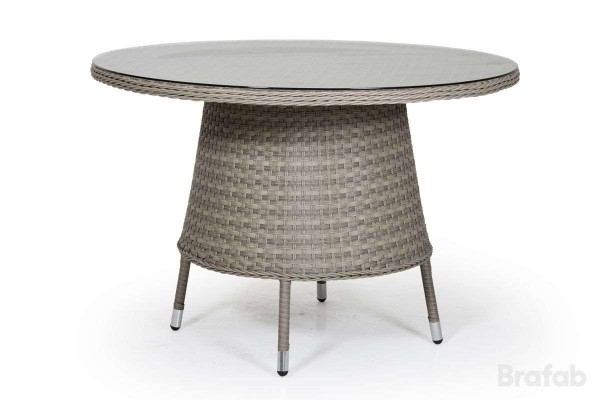 Colby matbord Ø110 h74  med glas