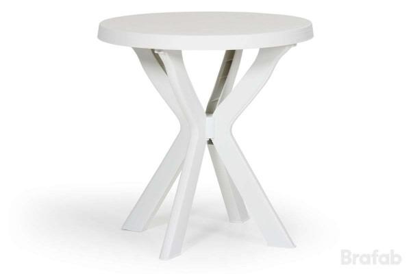 Don matbord Ø70 H72 cm vit Brafab