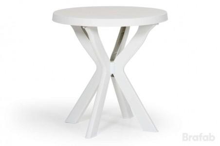 Don matbord Ø70 h72 vitt