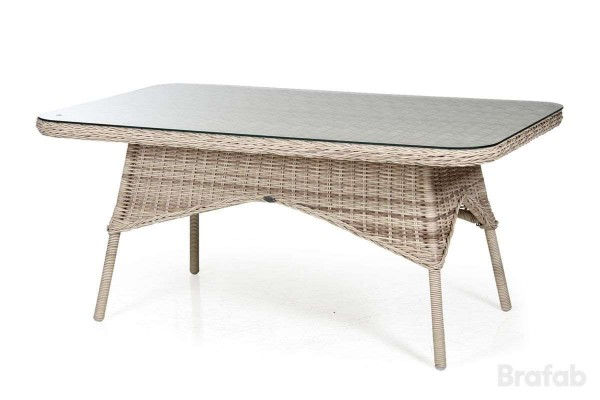 Evita matbord 150x90 h67 med glas Brafab