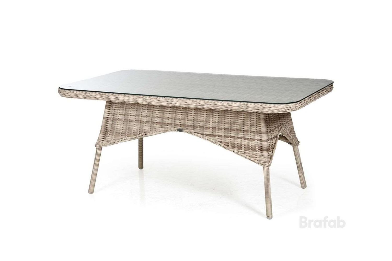 Evita matbord 150x90 h67 med glas