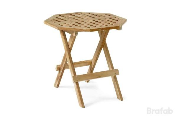 Kos bord åttkantigt 50 h50 teak
