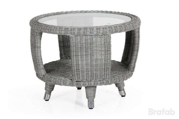 Evita sidobord Ø60 H45 cm med glas Brafab