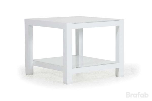 Balma Sidobord 60x60 h48 med glas vit/vit