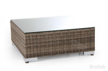 Ninja pall/bord 76x76 rustik med beige dyna/glas Brafab