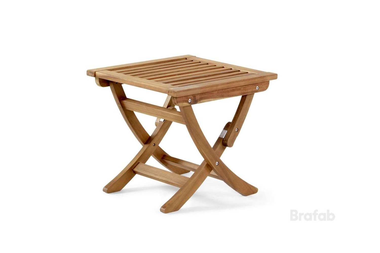 Everton fotpall/bord brun akacia Brafab