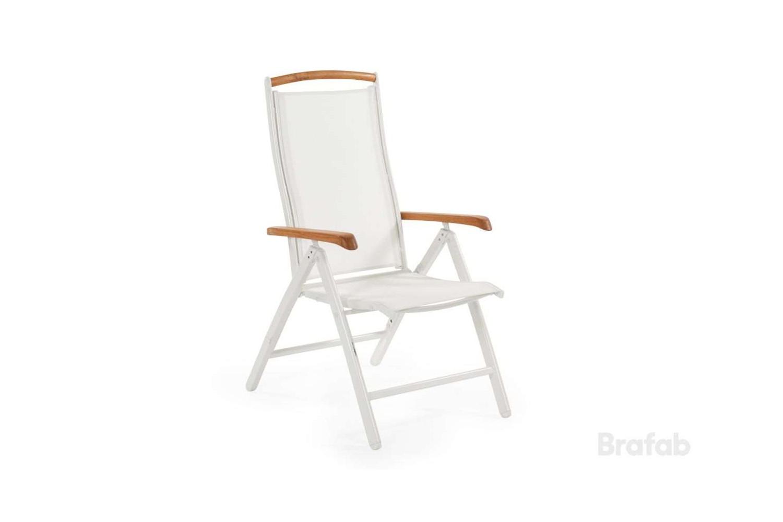 Andy positionsstol  armstöd teak Brafab