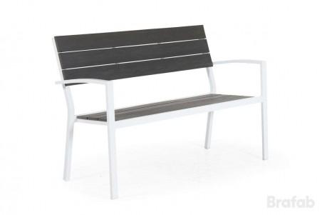 Leone bänk vit/grå