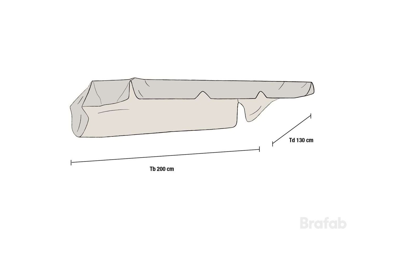 Bonn hammocktak polyester/pvc Brafab