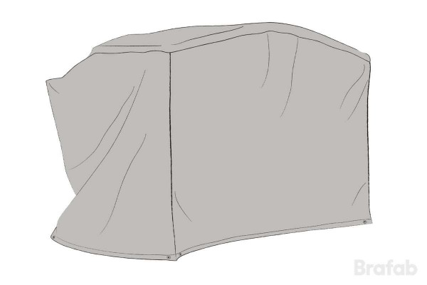Hammockskydd välvt polyester grått Brafab