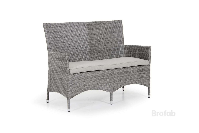Ninja 2-sits soffa grå med gråa dynor