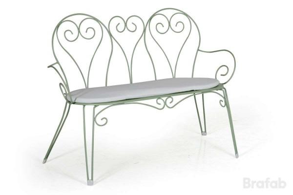 Odessa 2-sits soffa grön med offwhite dyna Brafab