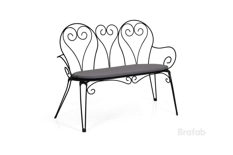 Odessa 2-sits soffa svart med grå dyna Brafab