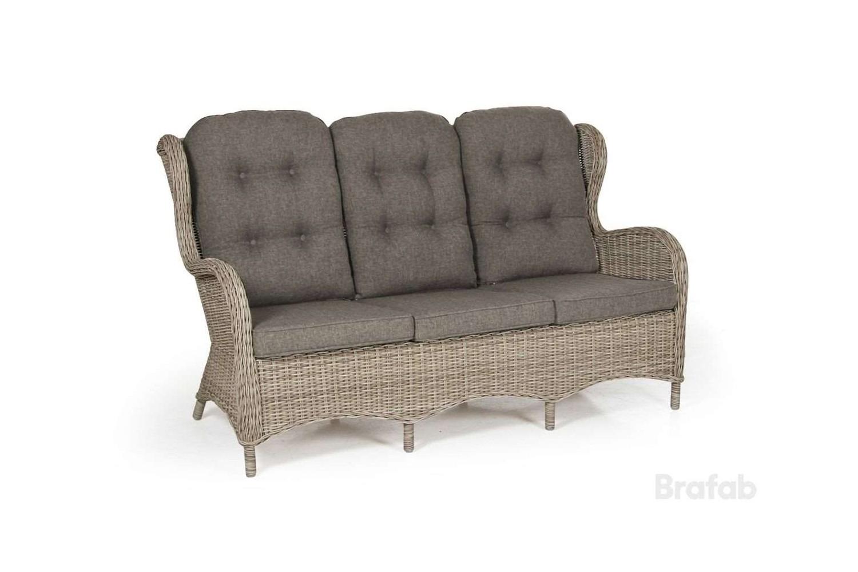 Evita 3-sits soffa beige utan dyna