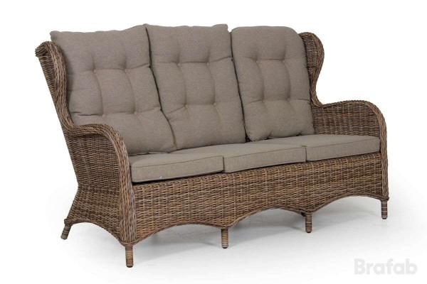 Evita 3-sits soffa brunmelerad utan dyna Brafab