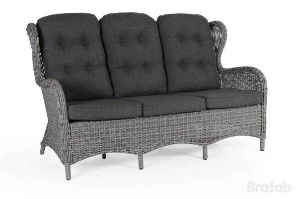 Evita 3-sits soffa grå utan dyna