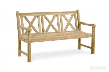 Madras 3-sits soffa vitpigmenterad teak