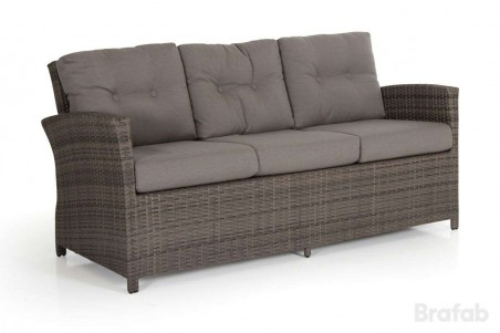 Soho 2-line 3-sits soffa brun med taupe dyna