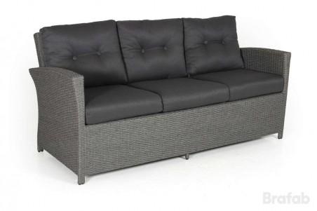 Soho 3-sits soffa grå med grå dyna