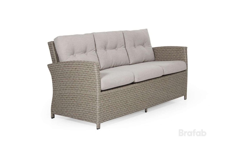 Soho 3-sits soffa beige med beige dyna