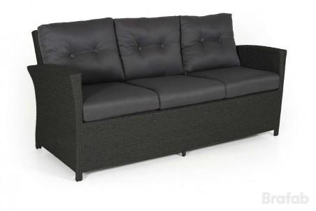 Soho 3-sits soffa svart med grå dyna