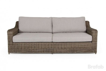 Glendon 3-sits soffa rustik med dyna
