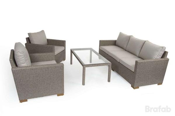 Canby 3-sits set med bord beige
