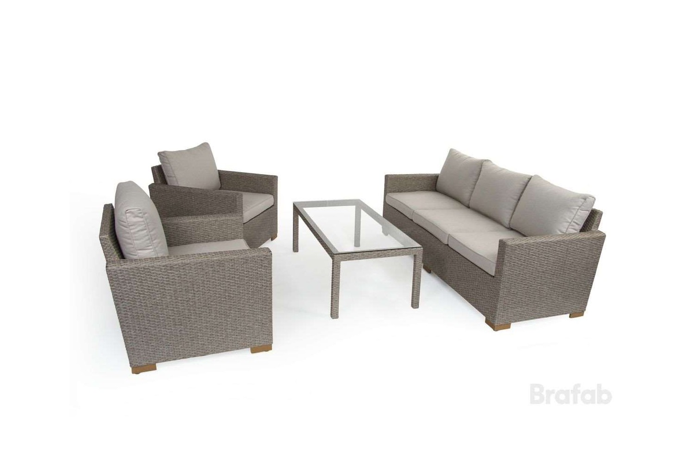 Canby 3-sits set med bord beige Brafab