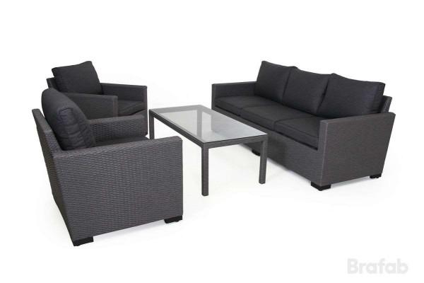 Canby 3-sits set med bord grå
