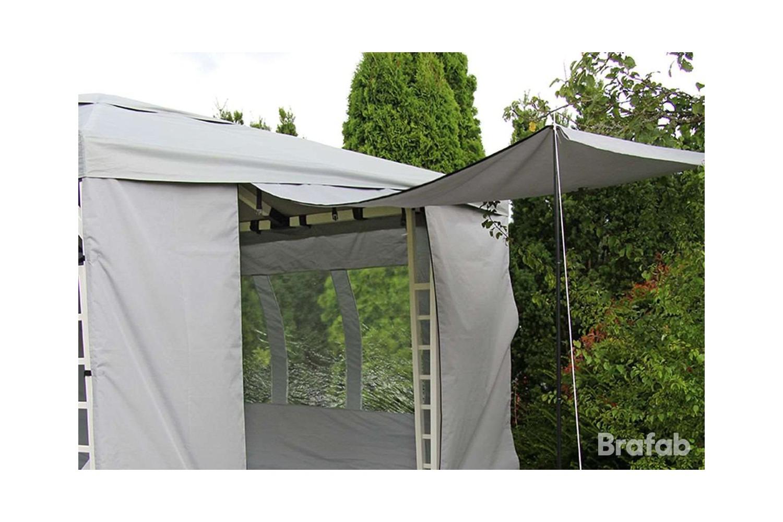 Hov sidovägg öppningsbar grå Brafab