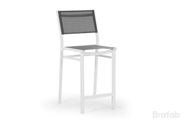 Leone barstol vit/grå