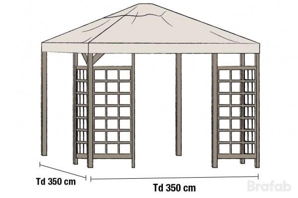 Hov paviljong tak