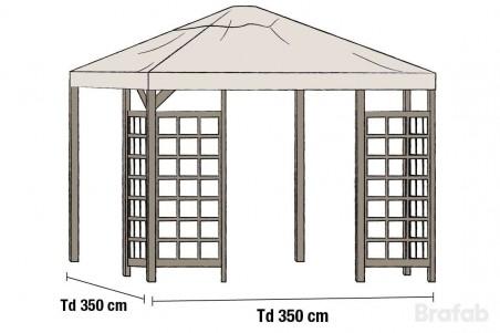 Hov paviljong tak Brafab