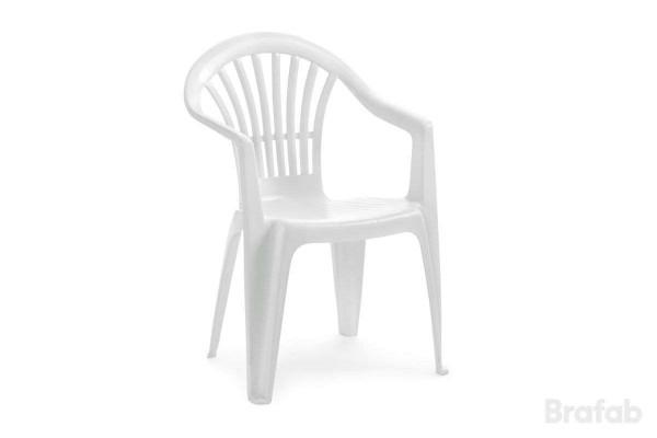 Altea stapelbar karmstol låg vit Brafab