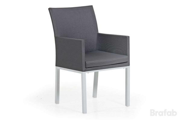 Balma karmstol grå med grå textil