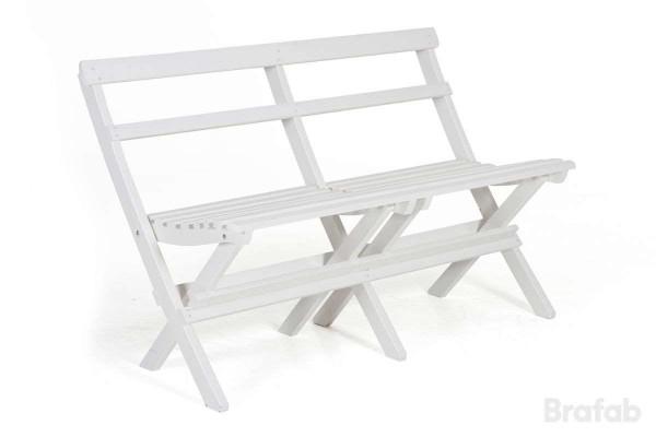 Gammeldags soffa 130 vit Brafab