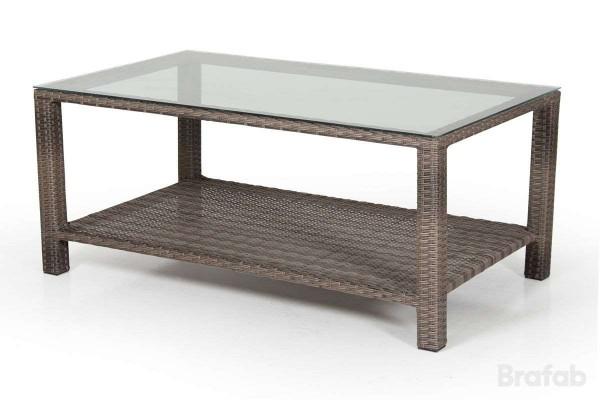 Madison soffbord 2-line 120x70 h50 brun/glas
