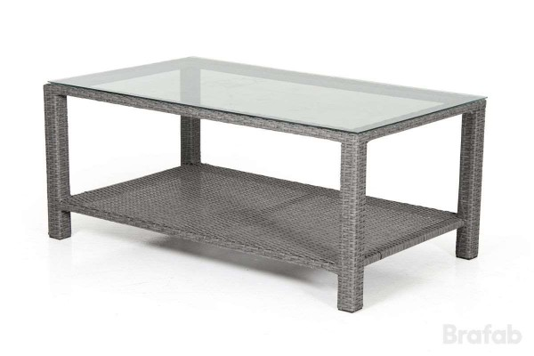 Madison soffbord 120x70 h50 grå med glas