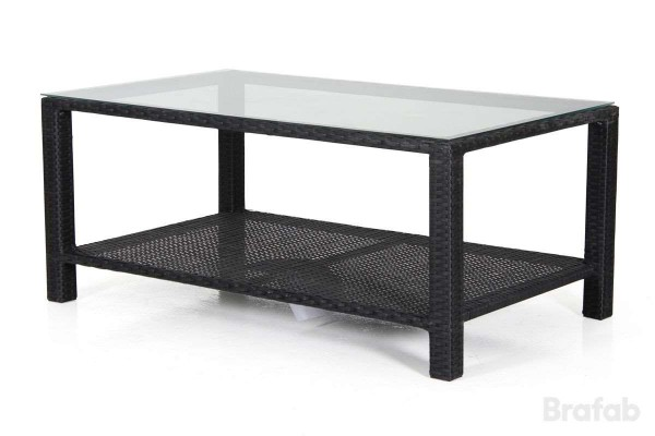 Madison soffbord 120x70 h50 svart med glas