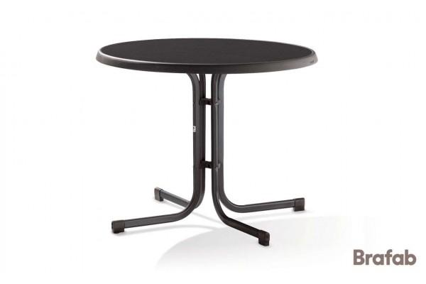 Mecalit cafébord Ø86 H72 cm antracit/svart Brafab