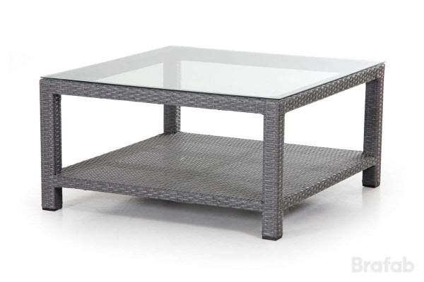 Ninja soffbord 90x90 h46 grå/glas