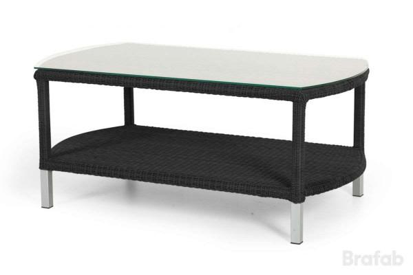 Pomona soffbord 110x60 h48 svart med glas