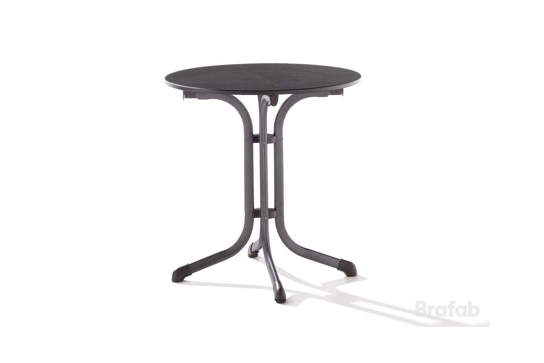 Puroplan cafebord Ø68 h72 antracit/svart