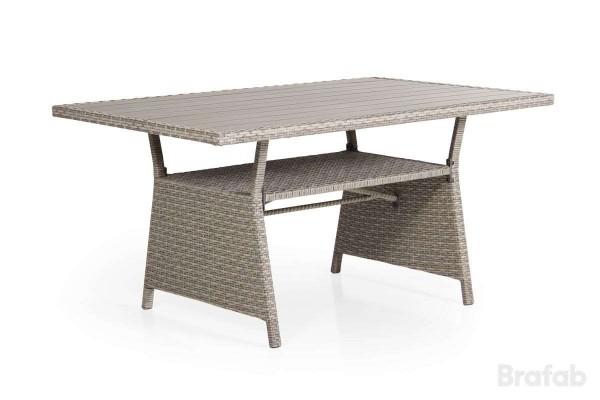 Soho soffbord 143x86 beige h69 med brun nonwood