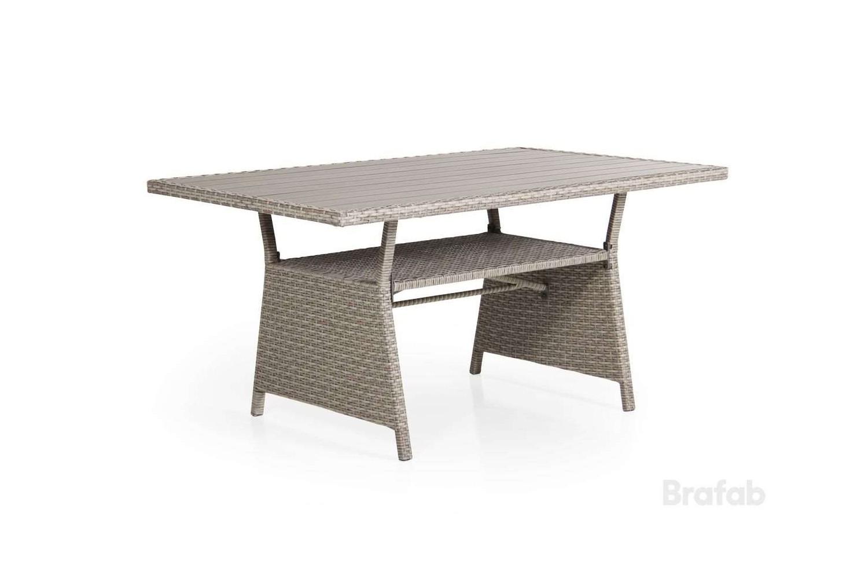 Soho soffbord 143x86 beige h69 med brun nonwood         Brafab